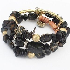 Jewelry - Chunky Beaded Memory Wire Bracelet